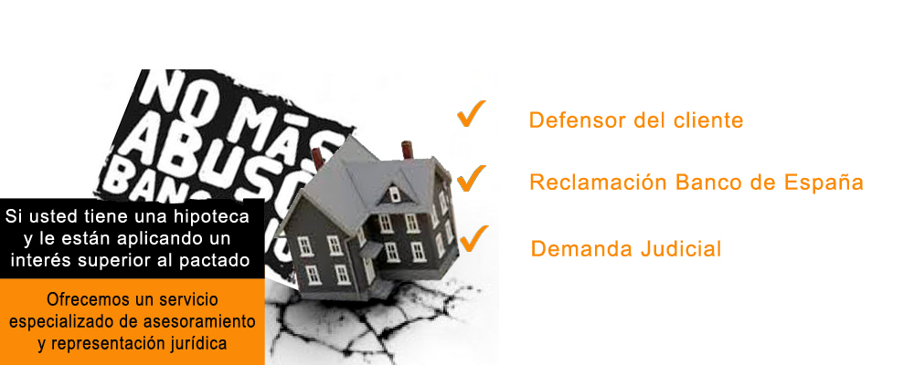 Cl usulas suelo for Reclamacion hipoteca suelo